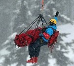 Rescuing skier Stacey Cook during the Olympics
