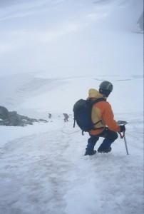 Descending Mount Matier