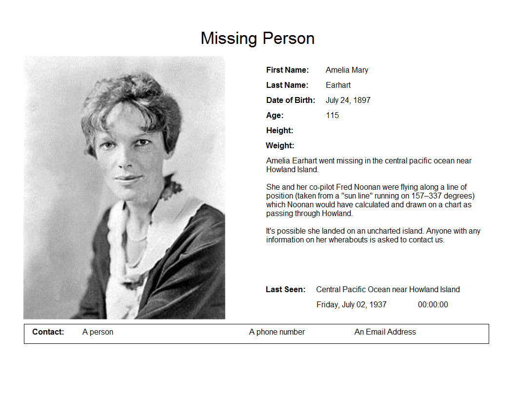 The Missing Poster