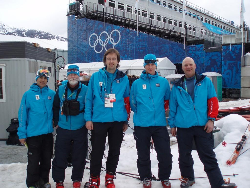 "From left, Brian ""Fish"" Fishbook, Buck Corrigan, Me, Peter Marshall, Nick Zupan"