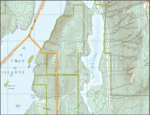 Detail of map 092G036. You can't see the labels on the grid lines, so useless for navigation.