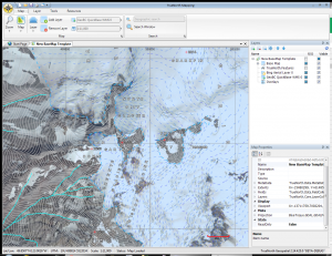 TrueNorth Screenshot showing Bin Aerial layers and iMapBC WMS layer