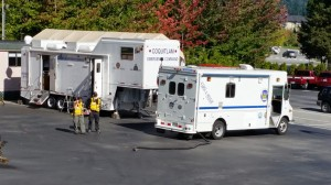 Coquitlam One, and the Coquitlam RCMP/Fire Rescue Command Trailer.