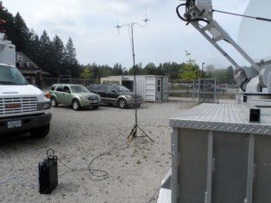 700 MHz mobile LTE cell site, used in the tests.